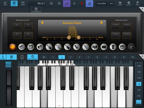 Cubasis LE 2 - Mobile Music Creation System Screenshot