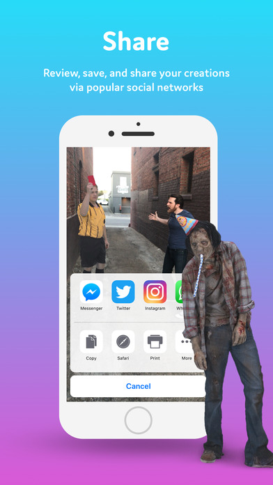 Holo – Holograms for Videos in Augmented Reality Screenshot