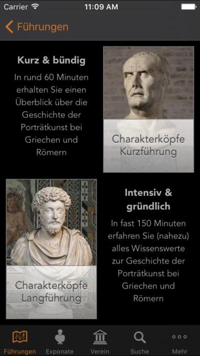 Glyptothek München Mediaguide Screenshot