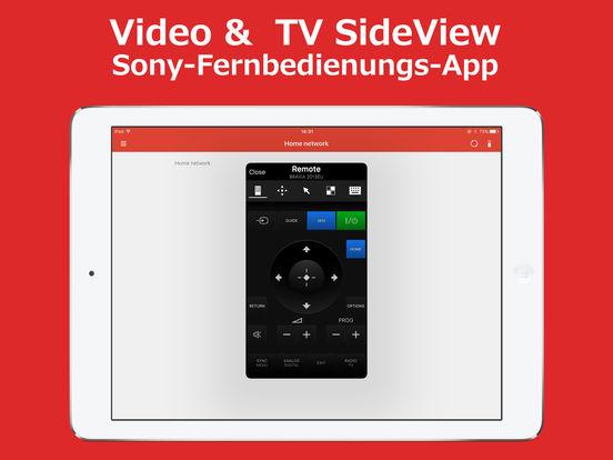 Video & TV SideView Fernbedienung Screenshot