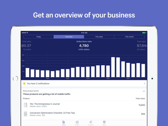 Shopify: Sell Online Commerce and Build a Store Screenshot