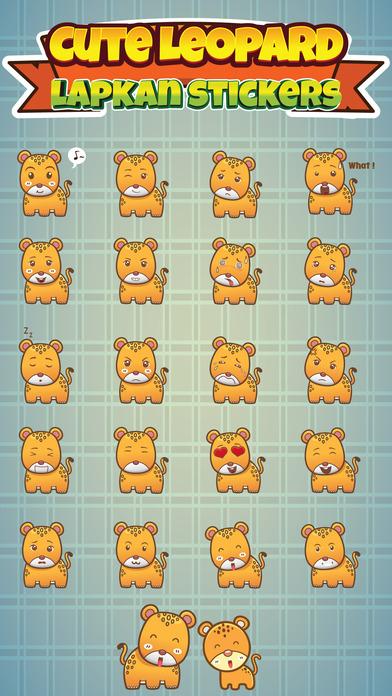 Sticker Me Cute Leopard By Huy Nguyen