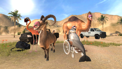 Goat Simulator PAYDAY iOS Screenshots