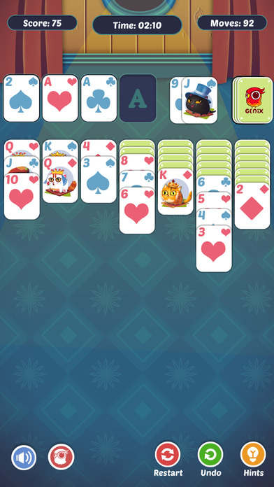Fancy Cats Solitaire iOS Screenshots