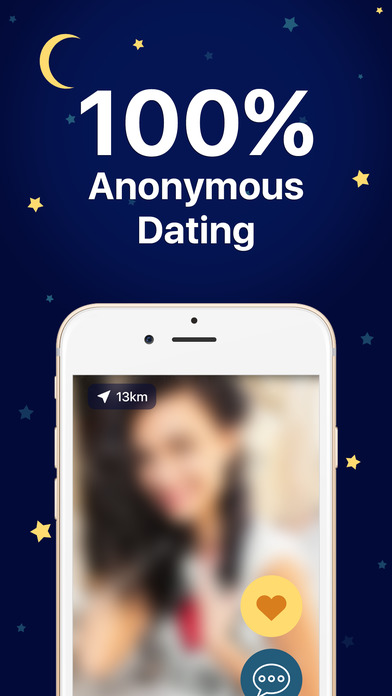 anonymous dating app ad