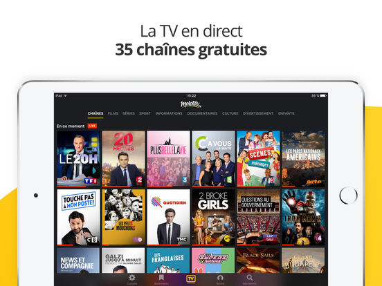 Molotov : TV en direct, replay TV, et plus iPad