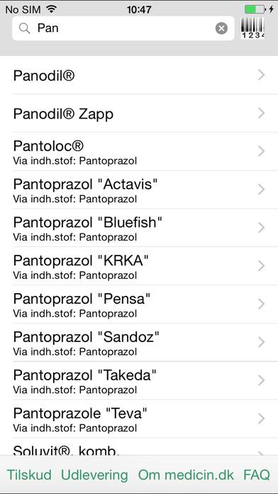 Screenshot for min.medicin.dk in Denmark App Store
