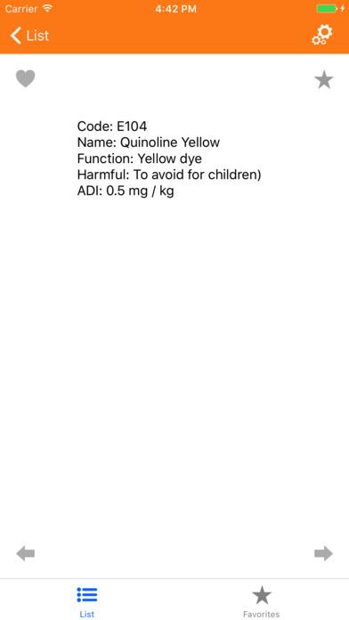 Lebensmittelzusatzstoff Screenshot