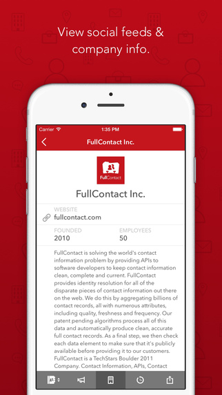 FullContact - Sync, Manage, & Backup Contacts Across Multiple Devices Screenshot