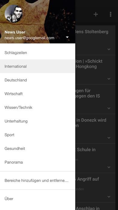 Google News & Wetter Screenshot