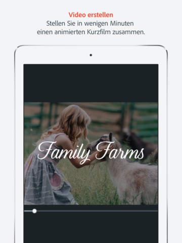Adobe Spark Video – Für Videos mit bleibendem Eindruck Screenshot