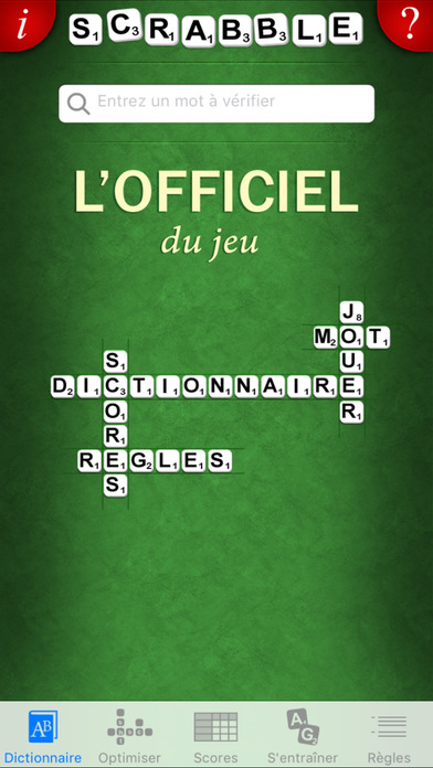l officiel du scrabble dictionnaire dans l app store. Black Bedroom Furniture Sets. Home Design Ideas