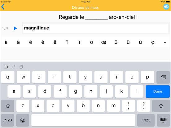 Dictées de mots CE2 iPad