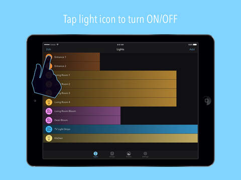 Huemote – A Fast Remote for Your Philips Hue Lights Screenshot