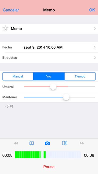 Audio Memos - El Grabador de Voz Screenshot