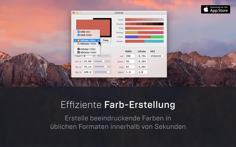 Colored Screenshot