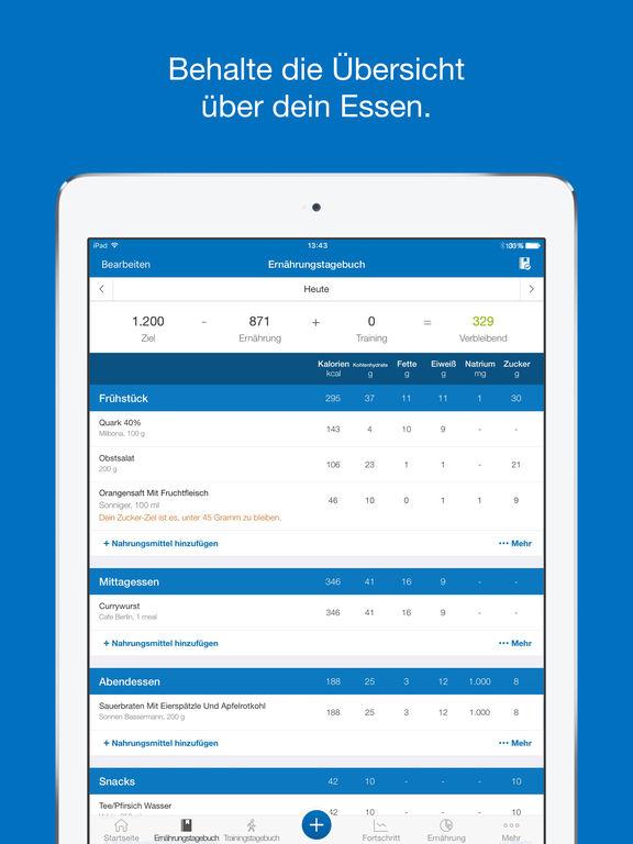 MyFitnessPal: Kalorienzähler, Schrittzähler & Diät Screenshot