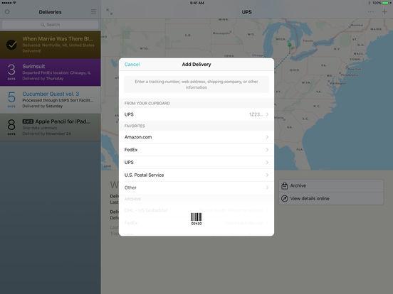 Deliveries Screenshot