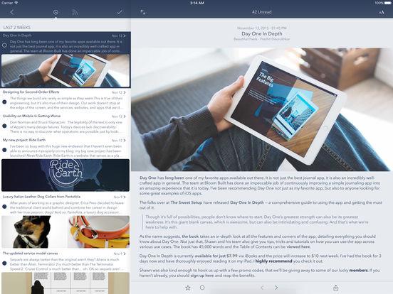 Fiery Feeds - Eine App für Feedly, Feedbin, Fever, TT-RSS, Instapaper, Pocket und mehr Screenshot