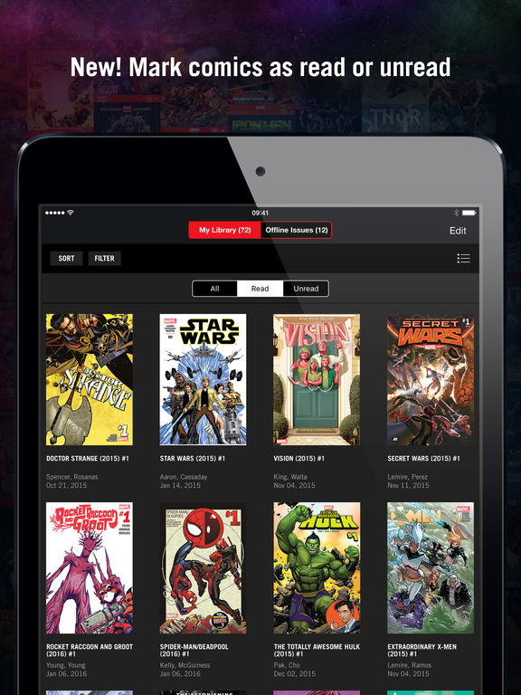 Marvel Unlimited - 17,000 Comics including Spider-Man, Deadpool, Iron Man, Captain America, Thor, Doctor Strange, Hulk, Daredevil, Captain Marvel, Luke Cage and More Screenshot