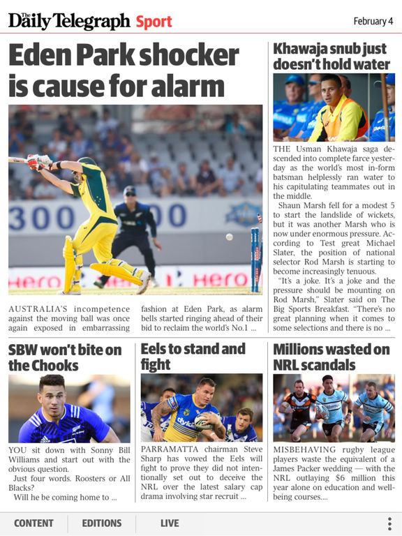 The Daily & Sunday Telegraph Edition Screenshot