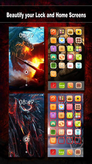 download Dragon Wallpapers, Backgrounds & Themes - Home Screen Maker with Cool HD Dragon Pics for iOS 8 & iPhone 6 apps 3