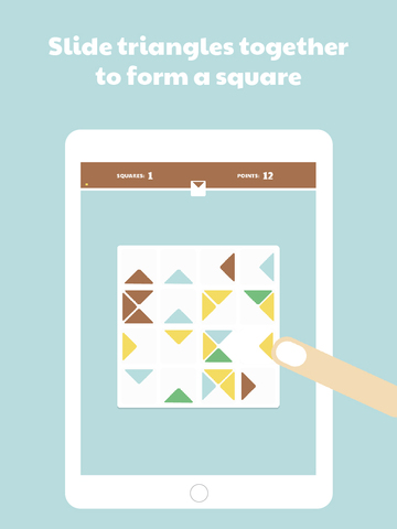 Triangulae - the original geometric puzzle game iOS Screenshots