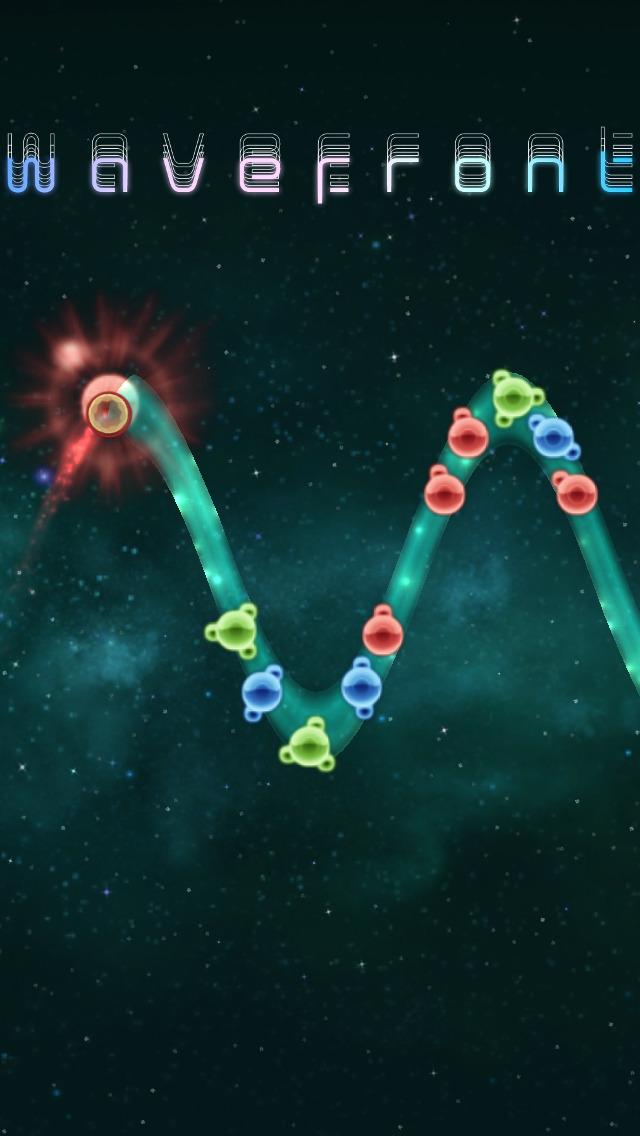 Wavefront (Wellen-Geschicklichkeitsspiel) iOS Screenshots