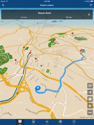 Kuala Lumpur Map - Ville Metro Airport iPad