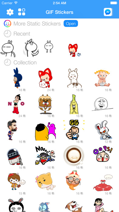 download GIF Stickers & Animated Emoticons for Facebook Messenger apps 0