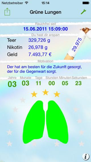 Grüne Lungen - Nichtraucher werden Screenshot