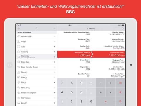 Vert - Einheiten- und Währungsumrechner Screenshot