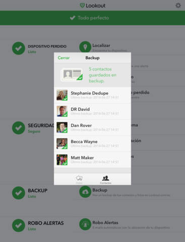 Lookout - Seguridad, backup gratis, dispositivo perdido Screenshot