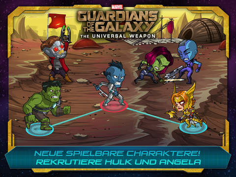 Marvel Guardians of the Galaxy: The Universal Weapon iOS Screenshots
