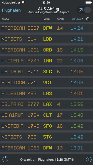 FlightBoard – Echtzeitstatus von Abflug- und Ankunftszeiten Screenshot