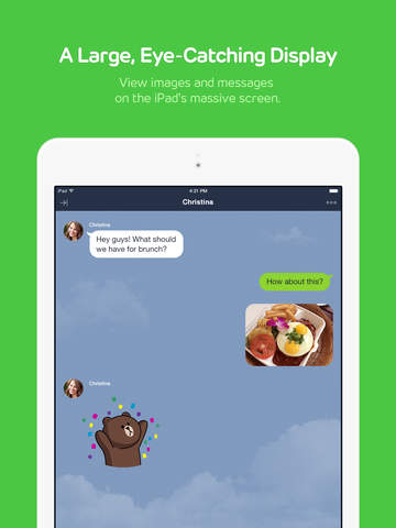 LINE for iPad Screenshot