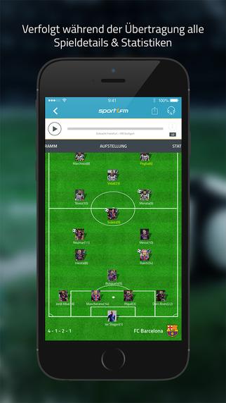 SPORT1.fm – Live im Radio: die Fußball Bundesliga, Europa League und DFB-Pokal Screenshot