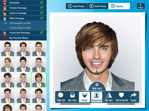Hairstyle PRO for iPad - Try On Virtual Hairstyles for Men and Women ...