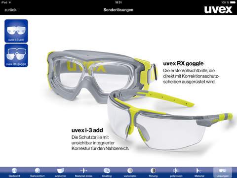 uvex rx app beratungstool f r uvex korrektionsschutzbrillen im app store. Black Bedroom Furniture Sets. Home Design Ideas