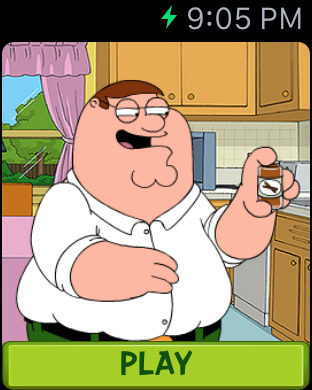 Family Guy: Mission Sachensuche Apple Watch
