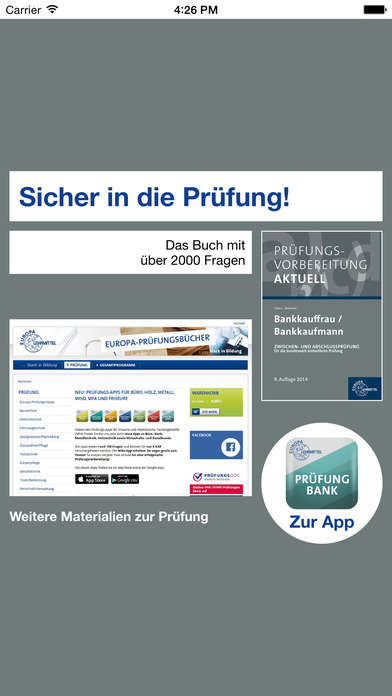 Screenshot for Prüfung Bank in Germany App Store