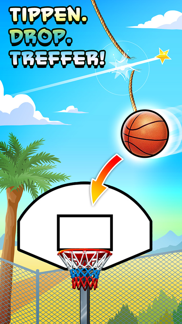 Basket Fall iOS Screenshots