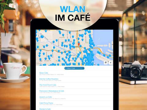 WiFi Map Pro - Passwörter für kostenlosen drahtlosen Internetzugang an öffentlichen Hotspots in Deutschland und weltweit Screenshot