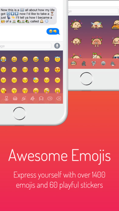Next Keyboard - Beautiful Themes, New Emojis & Stickers Screenshot