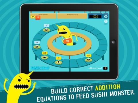 sushi monster math game online