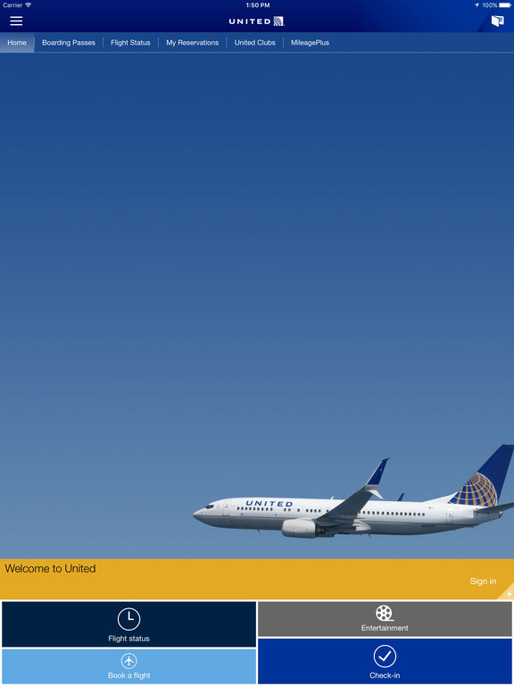 United airlines wifi download