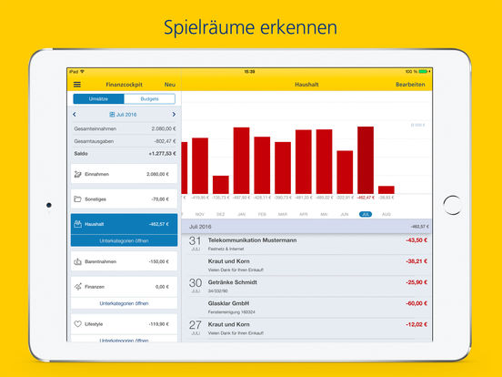 Postbank Finanzassistent Screenshot