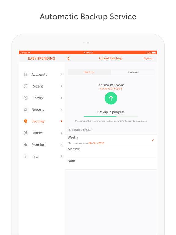 Easy Spending Expense Tracker - Manage expenses Screenshot