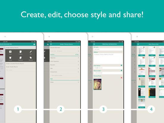 Resume Designer Pro: cv maker and resume builder Screenshots