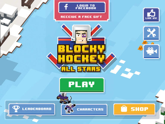 Blocky Hockey All-Stars Screenshot